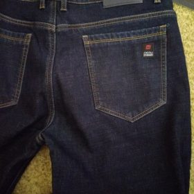 2020 Winter  Men's Warm Slim Fit Jeans Fleece Stretch photo review