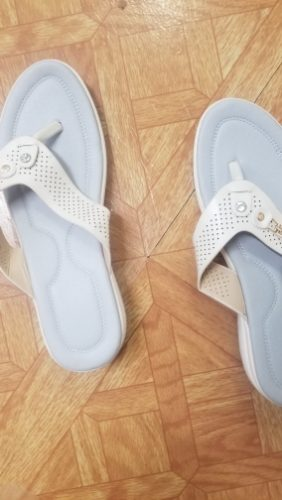 Summer Fashion Women's Slippers Metal Button Slides Sandals photo review