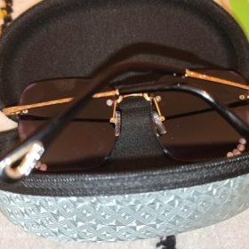 Fashon Vinage Sqaure Luxury Glasses Rimless Rhinestone Sunglasses photo review