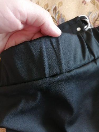 Women High Waist Cropped Trousers Pants Elastic Bandage Leggings photo review